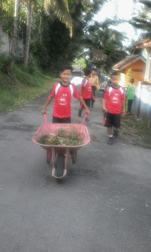 Image : Anak SD aja Peduli Lingkungan.